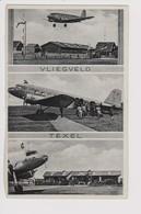 Vintage Rppc KLM K.L.M Royal Dutch Airlines Douglas Dc-2 @ TEXEL Airport - 1919-1938: Between Wars