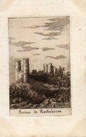 BAS EN BASSET    Ruines De Rochebaron Carte Postale Gravure - Frankreich
