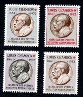 Lot Z670 France 4 Vignettes Expérimentales CHAMBON - Coins Datés