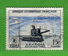 (Us3)  Afrique Occidentale Française, AOF 1956 - Yvert.58 . Oblitéré .  Vedi Descrizione - A.O.F. (1934-1959)