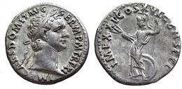 [H] +++ AR Denarius / Denier - DOMITIAN -- RIC 168a -- Minerva With Thunderbolts  +++ - 2. Die Flavische Dynastie (69 / 96)