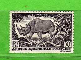 (Us3)  Afrique Equatoriale Française *, AEF 1947 - Yvert.209 . MH - Linguellato .  Vedi Descrizione - A.E.F. (1936-1958)