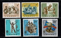 Rep. Congo 1965 OBP/COB 605/610** MNH - Dem. Republik Kongo (1964-71)