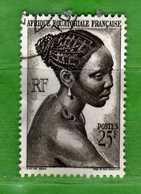 (Us3)  Afrique Equatoriale Française °, AEF 1947 - Yvert. 226 . Oblitéré .  Vedi Descrizione - Gebraucht