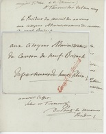 Griffe Conseil Des Anciens Sénéchal 886 An 5 - 30.7.1797 - Postmark Collection (Covers)