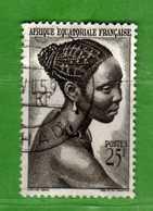 (Us3)  Afrique Equatoriale Française °, AEF 1947 - Yvert. 226 . Oblitéré .  Vedi Descrizione - A.E.F. (1936-1958)