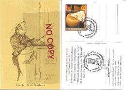 Modena, Carnevale 1880 Convegno Degli Artisti Le Sette Meraviglie, 15.10.2011, 150 Anni Di Gastronomia In Italia. - Cartoline