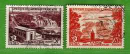 (Us3)  Afrique Equatoriale Française °, AEF 1956 - Yvert. 232 + 235 . Oblitéré .  Vedi Descrizione - A.E.F. (1936-1958)