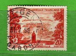 (Us3)  Afrique Equatoriale Française °, AEF 1956 - Yvert.  235 . Oblitéré .  Vedi Descrizione - A.E.F. (1936-1958)