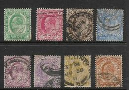 South Africa, CoGH, EVIIR, 1/2d To 5/= Set Of 8, Used - South Africa (...-1961)