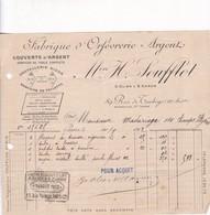 FABRIQUE D'ORFEVRERIE ARGENT M H SOUFFLOT - FRANCE AÑO YEAR 1912 AVEC FISCAUX - BLEUP - España