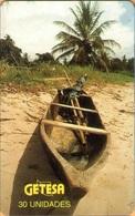 Equatorial Guinea - GQ-GET-0015, Wooden Boat, 30 U, Used - Guinée-Equatoriale