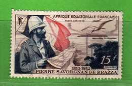 (Us3)  Afrique Equatoriale Française °, AEF 1951 - Aériens. Yvert. PA.55 . Oblitéré .  Vedi Descrizione - A.E.F. (1936-1958)