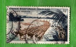 (Us3)  Afrique Equatoriale Française °, AEF 1955 - Aériens. Yvert. PA.58 . Oblitéré .  Vedi Descrizione - A.E.F. (1936-1958)