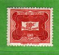 (Us3)  Afrique Equatoriale Française *, AEF 1955 - TAXE. Yvert. 12 . MH .  Vedi Descrizione - A.E.F. (1936-1958)