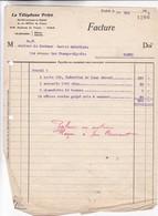 LE TELEPHONE PRIVE SA - PARIS AÑO YEAR 1913 - BLEUP - Francia