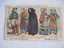 Carte NATHAN  BRETAGNE (cotes Du Nord) Types Et Costumes Pittoresques PAIMPOL LANNION CAP FREHEL BE - Cartes