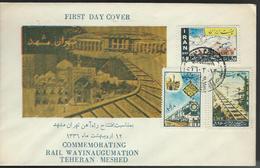 Iran. Scott # 1074-76 FDC. Opening Of The Tehran Meshed-Railway 1957 - Iran
