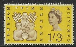 Great Britain, EIIR, 1963, Freedom From Hunger, 1'3 Phosphor, MH * - Unused Stamps