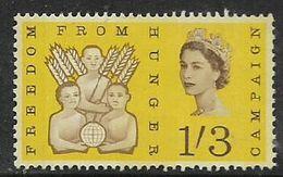 Great Britain, EIIR, 1963, Freedom From Hunger, 1'3 Phosphor, MH * - 1952-.... (Elizabeth II)