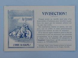 CHIEN - CHAT - SINGE : Carte Postale Pour Le Droit Animal Et Contre La Vivisection - Autres