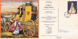 "Sweden 1997 Stockholm Postmuseum Card ""Paket I Långa Banor"" With Imprinted Stamp, Cancelled 20.10.97 - Lettres & Documents"
