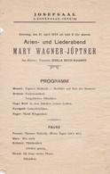 Programm Arien- Und Liederabend - Josefsaal Wien - Lehrerhaus-Verein - 1925 (41562) - Plakate & Poster