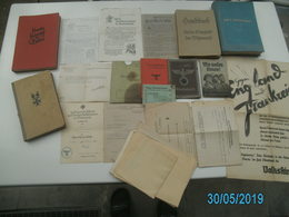 GROSSES LOT - 2Wk. - BÜCHER-DOKUMENTE-URKUNDE Usw,,,, - 1939-45