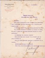 TAILLEURS FILS EMBALLEURS - FRANCE YEAR AN 1914 SIGNEE - BLEUP - Documents Historiques