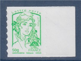 = Marianne Et La Jeunesse Autocollant X 1 Lettre Verte -50g, TVP, Bord De Feuille N°859 Neuf - Autoadesivi