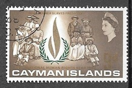 1968 9d Human Rights, Used - Cayman Islands