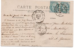 """1905 - AMBULANT - Cachet Convoyeur """" Ars En Ré  à Sablanceau """" Sur Type Blanc & Sur Cpa ILE DE RE """"le Phare Des Baleines - Storia Postale"""