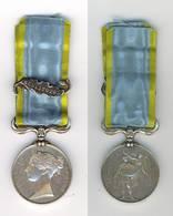 GDE BRETAGNE. REINE VICTORIA 1854. MEDAILLE DE CRIMEE AVEC BARRETTE SEBASTOPOL. ARGENT. ETAT TTB - Medals