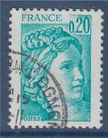 = Sabine De Gandon Oblitéré N°1967a Phosphore à Gauche - 1977-81 Sabine Of Gandon