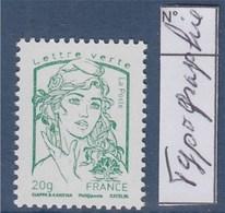 = Marianne Et La Jeunesse TVP Lettre Verte -20g N°4774c Impression Typograhie Sans Phosphore Neuf Gommé - 2013-... Marianne De Ciappa-Kawena