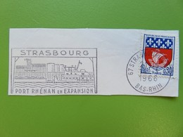 Flamme - Strasbourg - Port Rhénan En Expansion - Cachet Strasbourg 1966 - Timbre YT N° 1354B - Postmark Collection (Covers)
