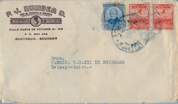 1945 , ECUADOR , SOBRE COMERCIAL CIRCULADO , GUAYAQUIL - BRISSAGO - Ecuador