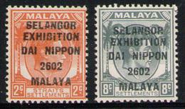 JAPANESE OCCUPATION SELANGOR 1942 - Set MVLH* - Groot-Brittannië (oude Kolonies En Protectoraten)