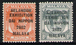 JAPANESE OCCUPATION SELANGOR 1942 - Set MVLH* - Occupation Japonaise