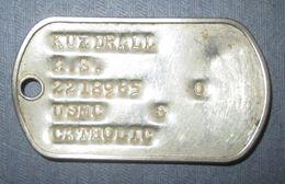 Plaque D'Identité USMC Vietnam - Equipement