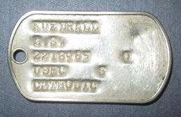 Plaque D'Identité USMC Vietnam - Equipment