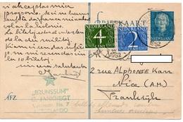 1952 - ESPERANTO - ETOILE Verte Sur Entier Postal NEDERLAND & Timbres - Esperánto