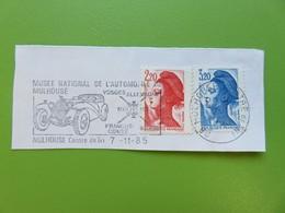 Flamme - Musée National De L'automobile - Vieux Tacot - Mulhouse - Cachet 1985 - Timbres YT N° 2376 Et 2377 - Postmark Collection (Covers)