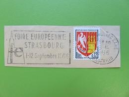 Flamme - Foire Européenne De Strasbourg - 1966 - Cachet Strasbourg-Gare - Timbre YT N° 1353A - Postmark Collection (Covers)