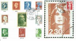 1989 - Carte 1er Jour Marianne De Briat N° 2614 - FDC