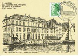 1982 - LE HAVRE - Xe Congrès Des Sociétés Philatéliques De Haute Normandie - Bolli Provvisori