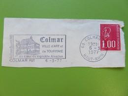 Flamme - Colmar (Haut-Rhin) - Ville D'art Et De Tourisme - Cachet 1977 - Timbre YT N° 1892 - Postmark Collection (Covers)