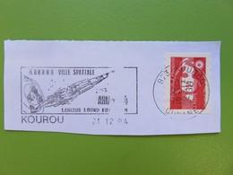 Flamme - Kourou - Guyane - Ville Spatiale - Lanceur Lourd Ariane 4 - 21.12.94 - Timbre Marianne Bicentenaire - Postmark Collection (Covers)