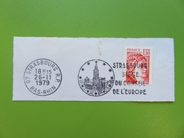 Flamme - Strasbourg (Bas-Rhin) - Siège Du Conseil De L'Europe - Timbre Type Sabine - Cachet 26.11.1979 - Postmark Collection (Covers)