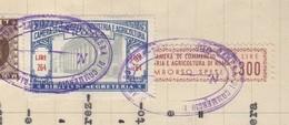 Roma. 1953. Marche Camera Di Commercio Diritti Di Segreteria L. 264 + Rimborso Spese L. 300 , Su Documento - Andere